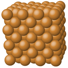 This figure shows large brown spheres arranged in a cube.