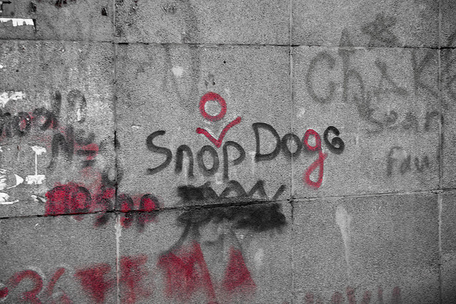 Graffiti that says