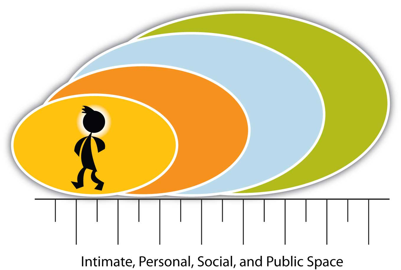 Space: Four Main Categories of Distance (Intimate, Personal, Social, and Public Space)