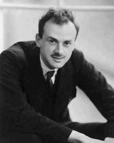 A photo of a young Paul Dirac.