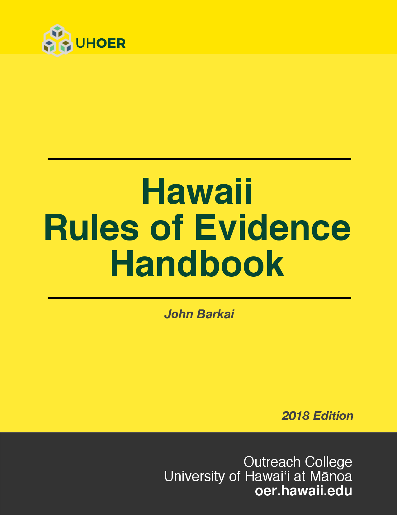 Cover image for Hawaii Rules of Evidence Handbook