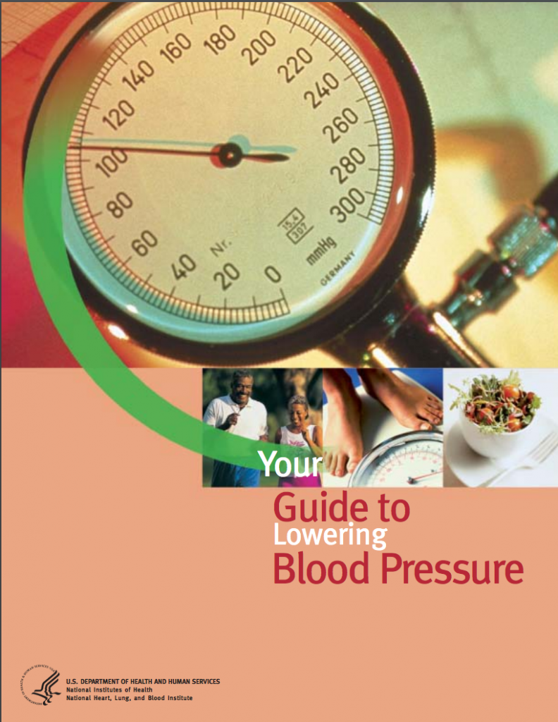 Cover of guide to lowering blood pressure