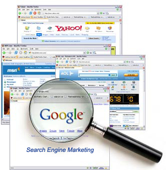 MSN, Yahoo!, AOL, and Google websites