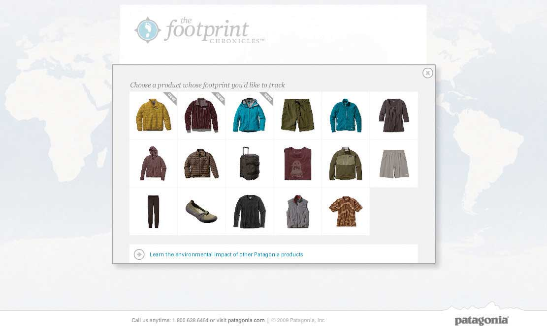 the footprint chronicles website screen shot