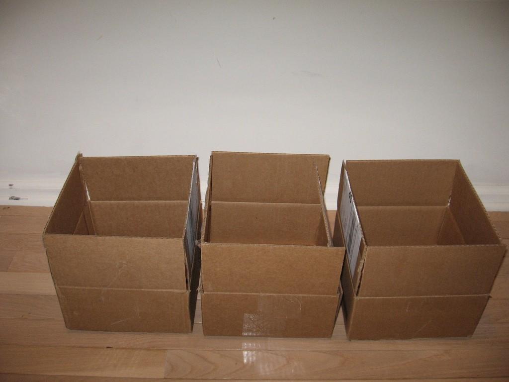 Three Empty Boxes