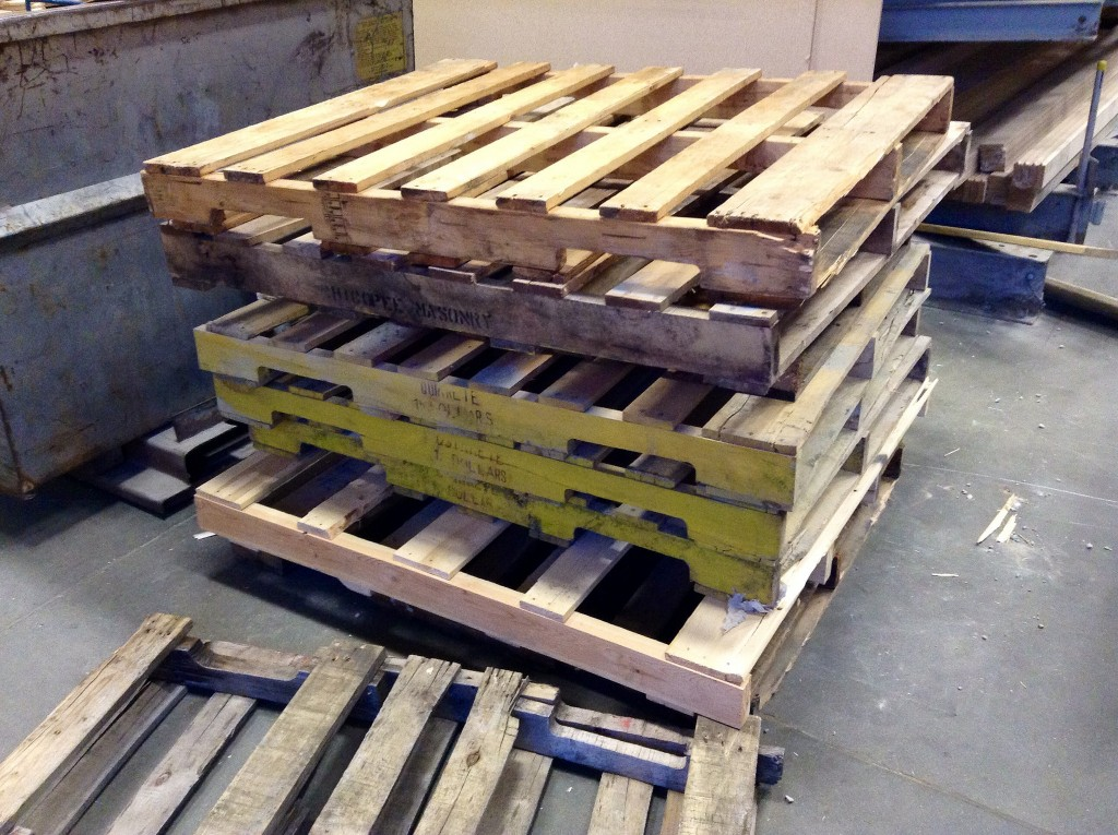 Pallets stacked on pallets