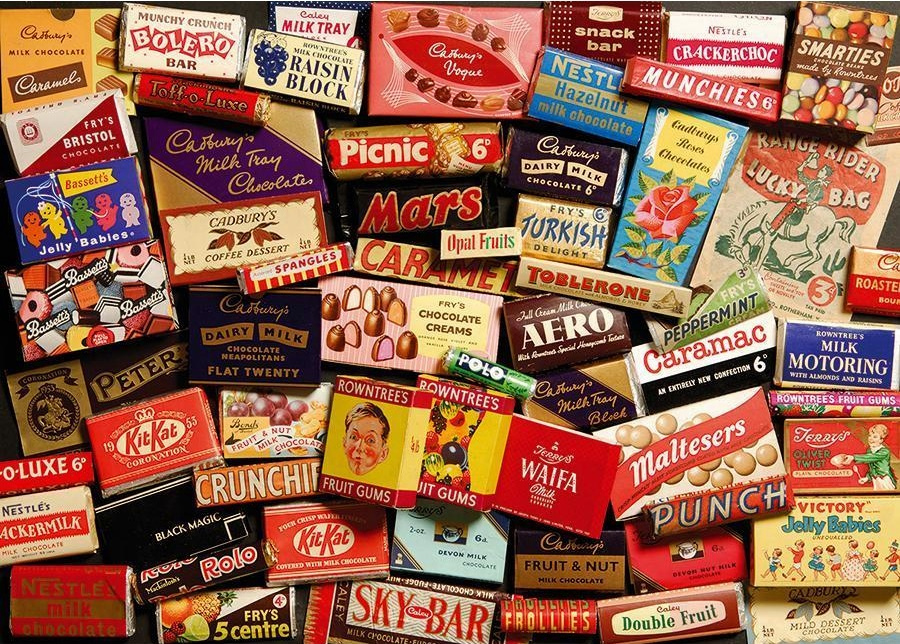 Many different candies