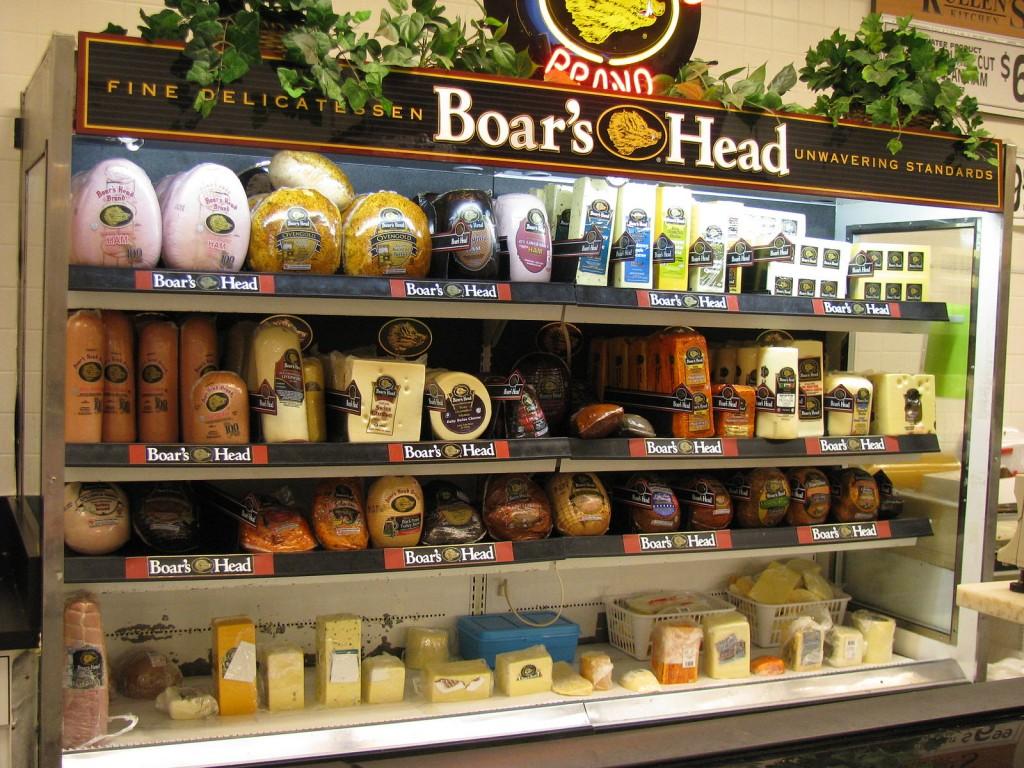Boar's Head display