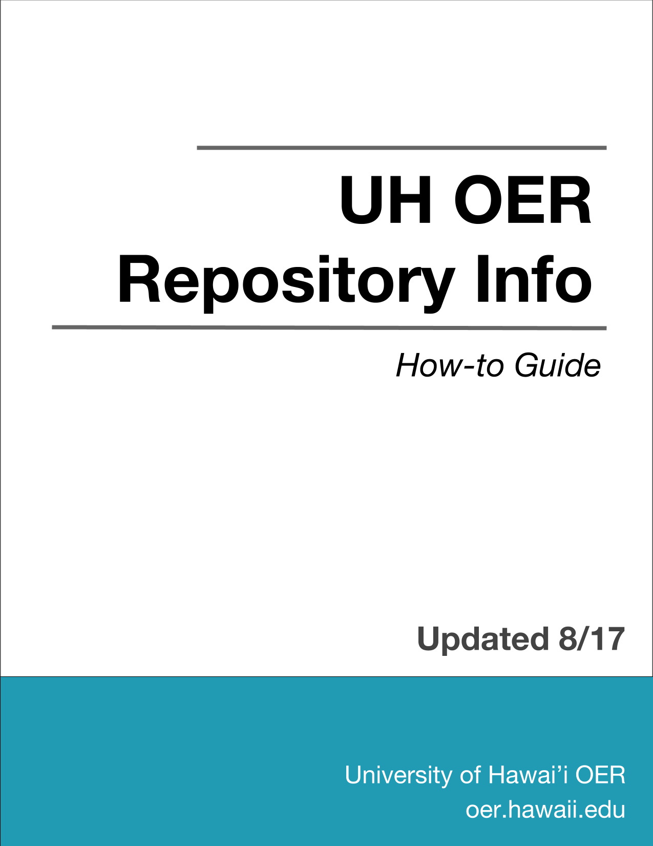 UH OER Repository Info