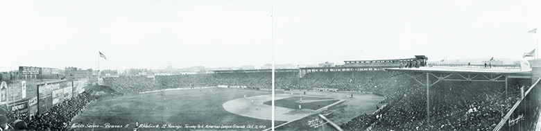A photograph shows Boston's Fenway Park.